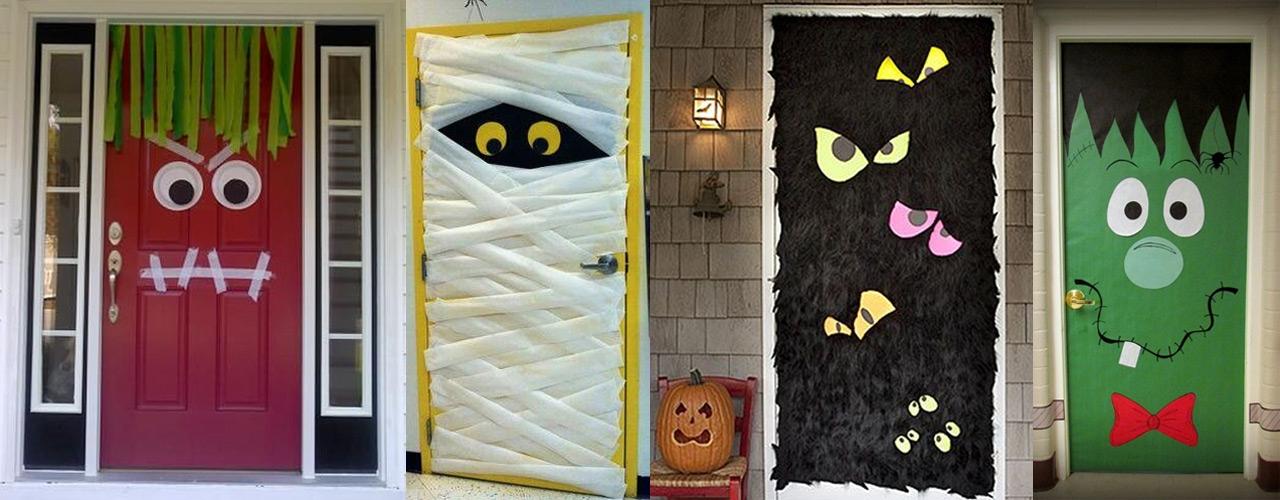 Halloween puertas 23 imagenes educativas for Como decorar una puerta