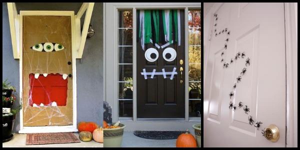 Halloween puertas 26 imagenes educativas for Decoracion para puertas halloween