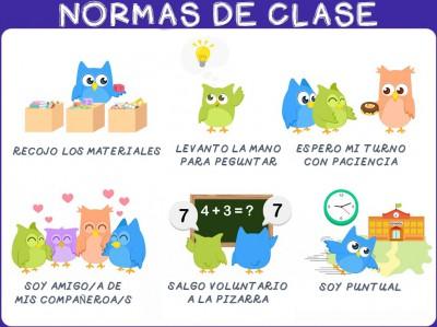 Poster normas de clase en espa ol y en ingles imagenes for 10 objetos del salon de clases en ingles