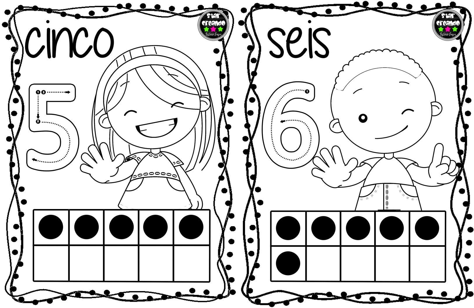 Dibujos Del Numero 7 Para Colorear: Tarjetas Números Para Colorear (4)