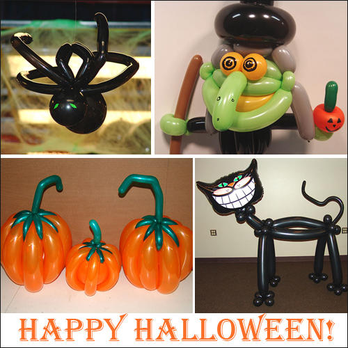 Ideas para decorar con globos para ni os halloween 1 - Decorar calabaza halloween ninos ...