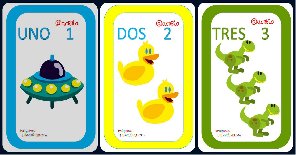 Magnifico Juego De Cartas Con Diseño Juguetes Números Del 1 20