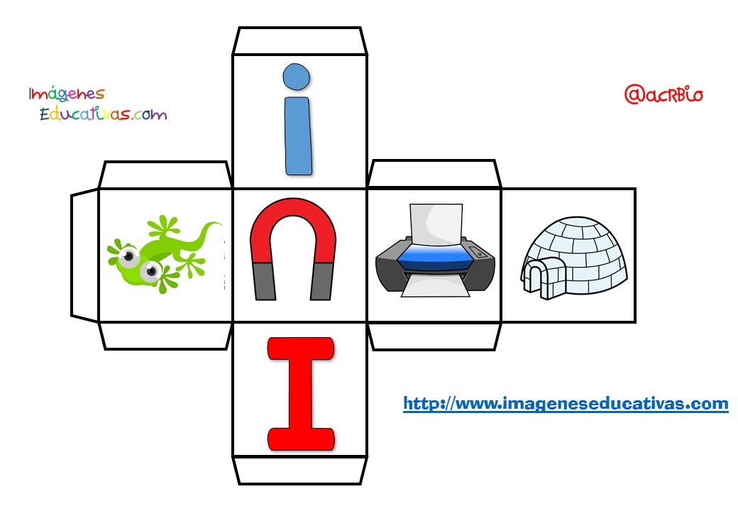 Dado de las vocales (8) - Imagenes Educativas