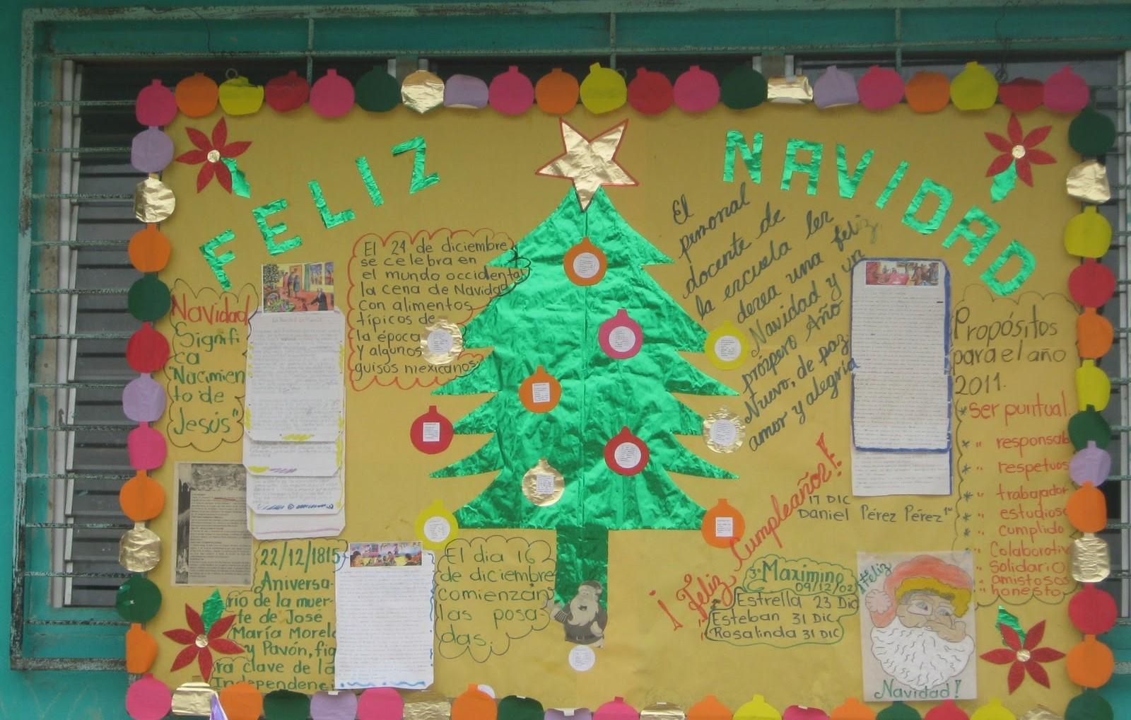 Periodico mural diciembre 11 imagenes educativas for Componentes de un periodico mural