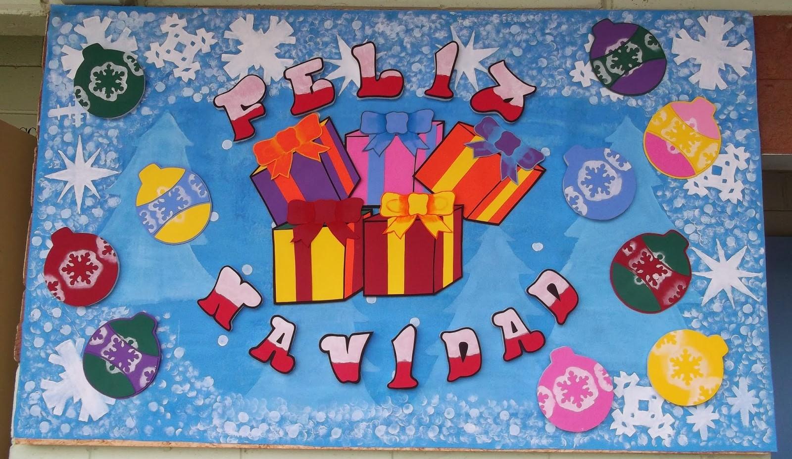Periodico mural diciembre 5 imagenes educativas - Murales decorativos de navidad ...