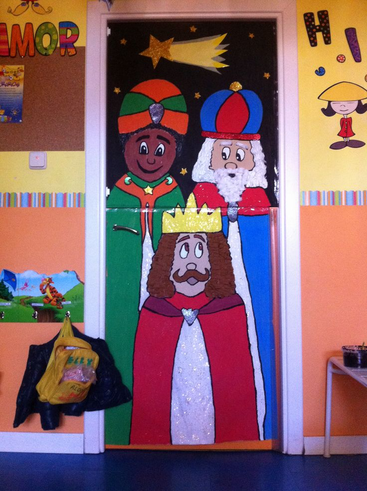 Puertas navidad 0 imagenes educativas - Adorno puerta navidad ...