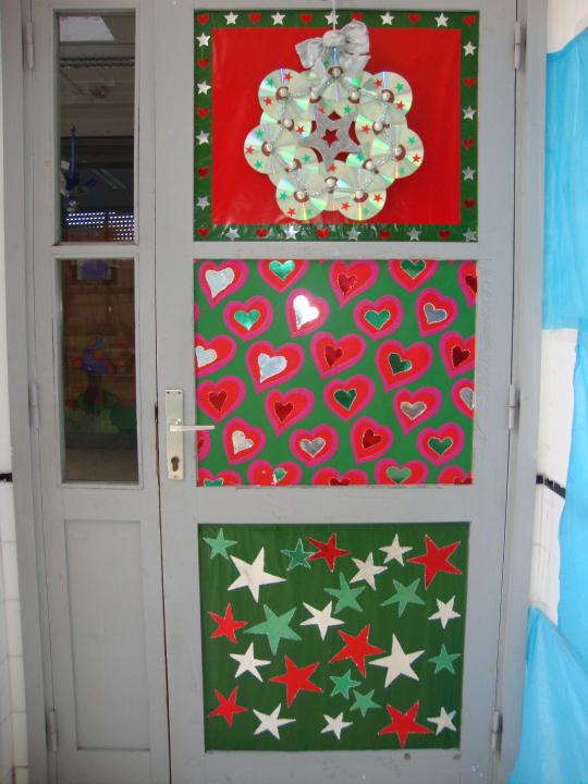 Puertas navidad 6 imagenes educativas for Figuras navidenas para decorar