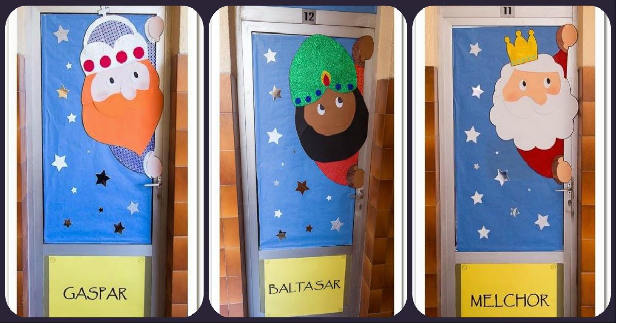 Nuevas puertas navide as para decorar nuestras clases y for Fotos de puertas decoradas de navidad