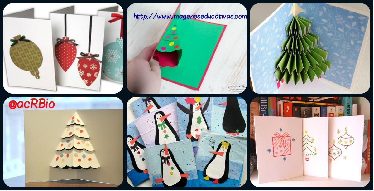 Colecci n de ideas 2015 tarjetas de navidad para hacer en - Manualidades navidad primaria ...