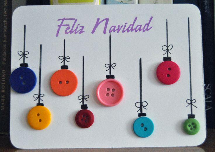 Tarjetas de navidad con botones 14 imagenes educativas - Tarjeta navidad original ...