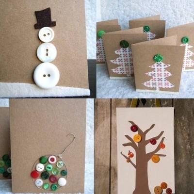 Tarjetas de Navidad Con Botones (19)