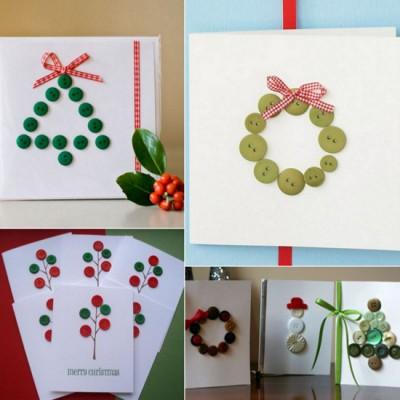 Tarjetas de Navidad Con Botones (21)