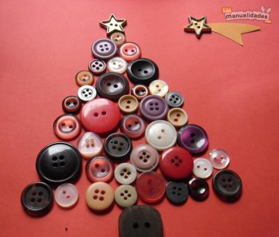 Nuevas tarjetas de navidad con botones para el 2015 for Tarjetas de navidad hechas por ninos