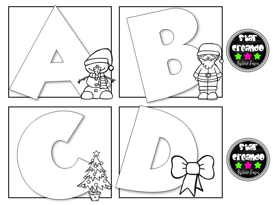 Abecedario para colorear motivos navide os 1 imagenes - Motivos navidenos dibujos ...