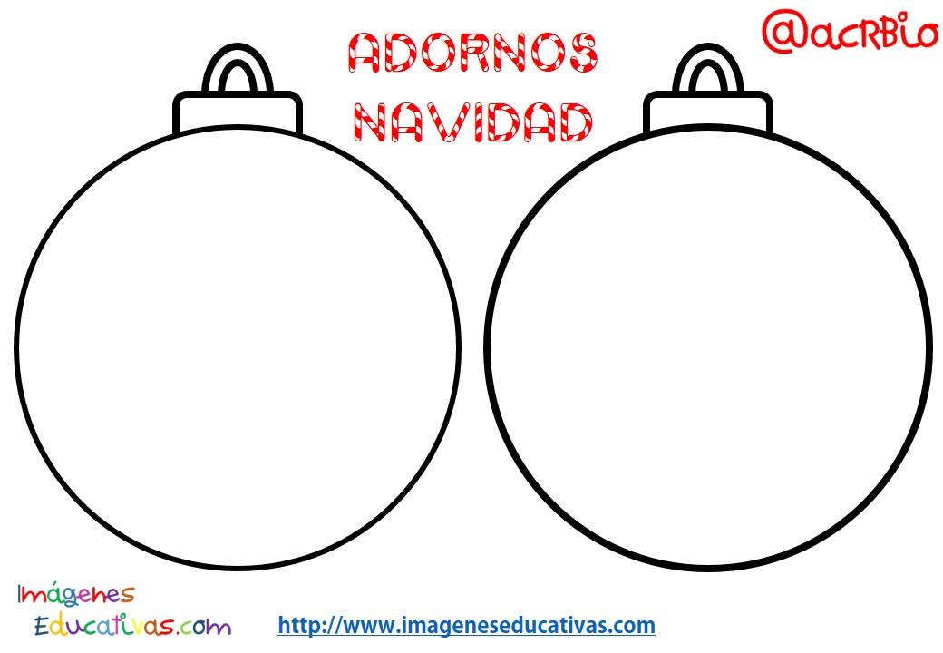 Bolas de navidad colorear 1 imagenes educativas for Imagenes de bolas de navidad