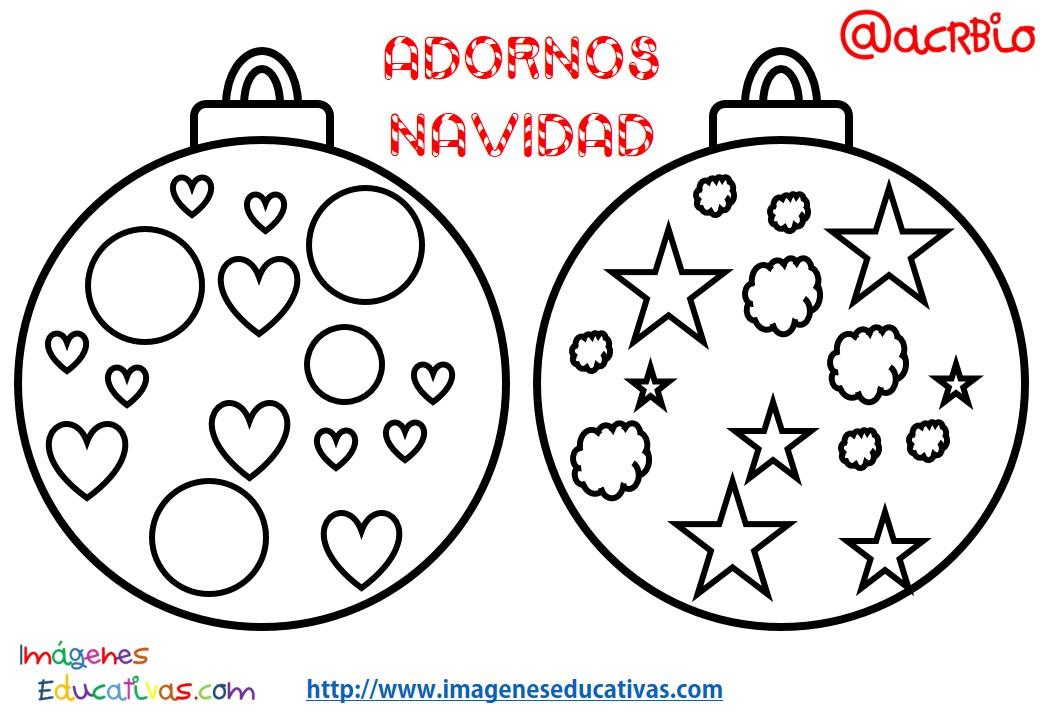 Bolas de navidad colorear 11 imagenes educativas for Dibujo bola navidad