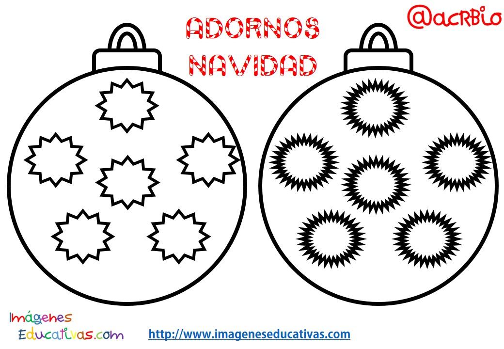 Bolas de navidad colorear 3 imagenes educativas for Imagenes de bolas de navidad