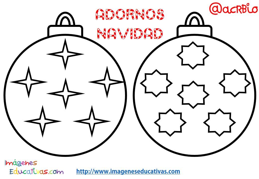 Bolas de navidad colorear 4 imagenes educativas for Imagenes de bolas de navidad