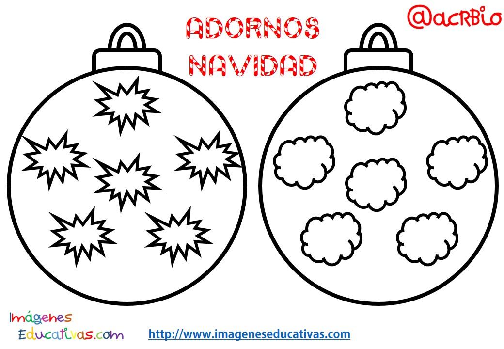 Bolas de navidad colorear 5 imagenes educativas for Imagenes de bolas de navidad