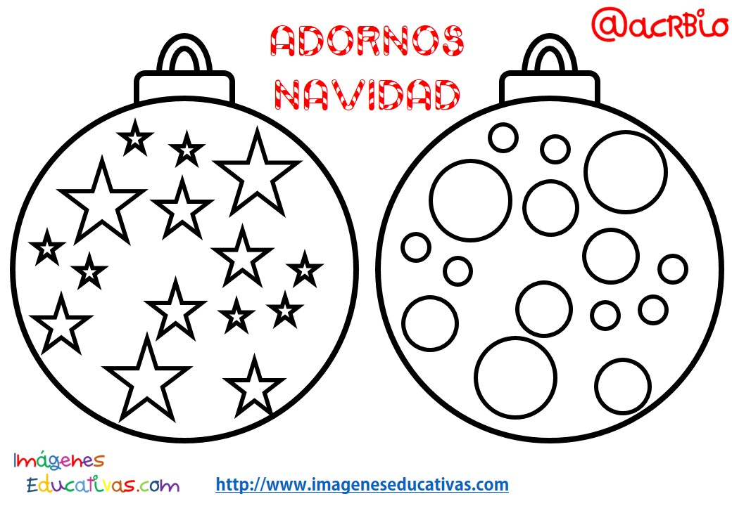 Bolas de navidad colorear 6 imagenes educativas - Cosas originales para navidad ...