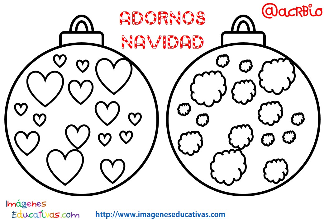 Bolas de navidad colorear 7 imagenes educativas - Fotos de bolas de navidad ...