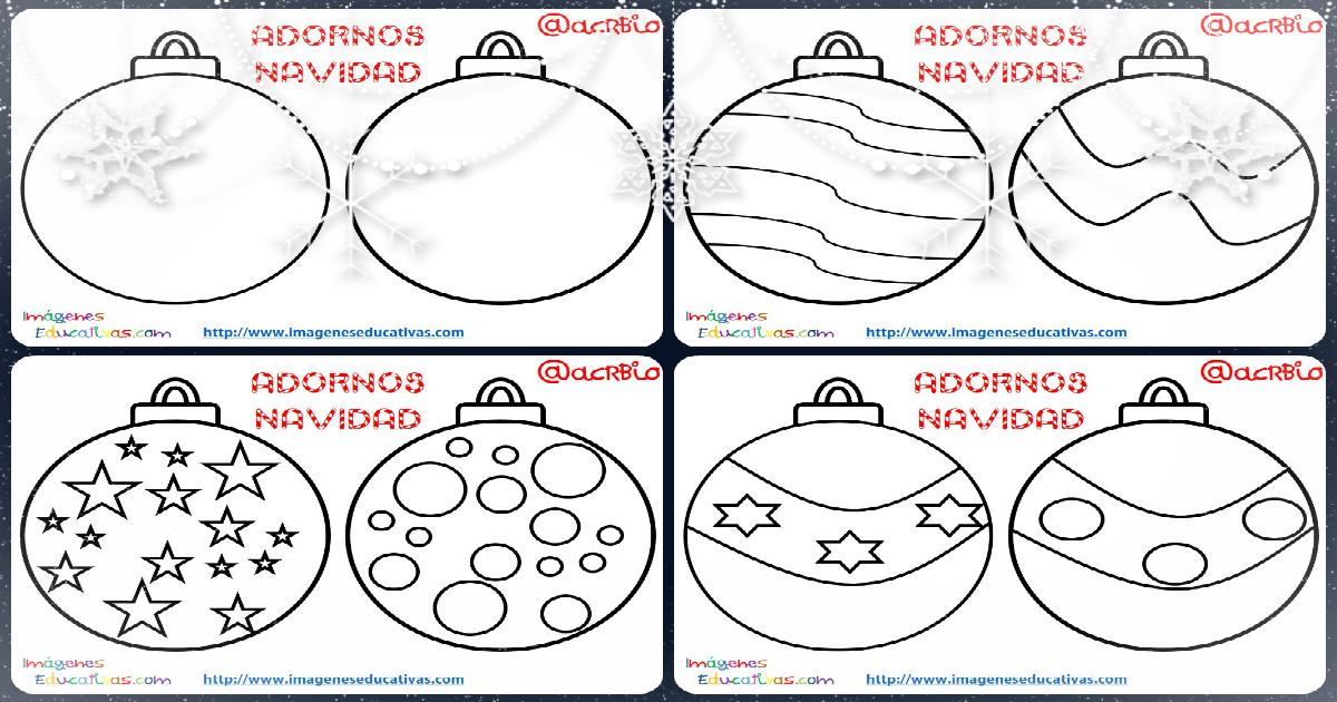 S per colecci n de bolas de navidad para colorear for Dibujos de navidad bolas