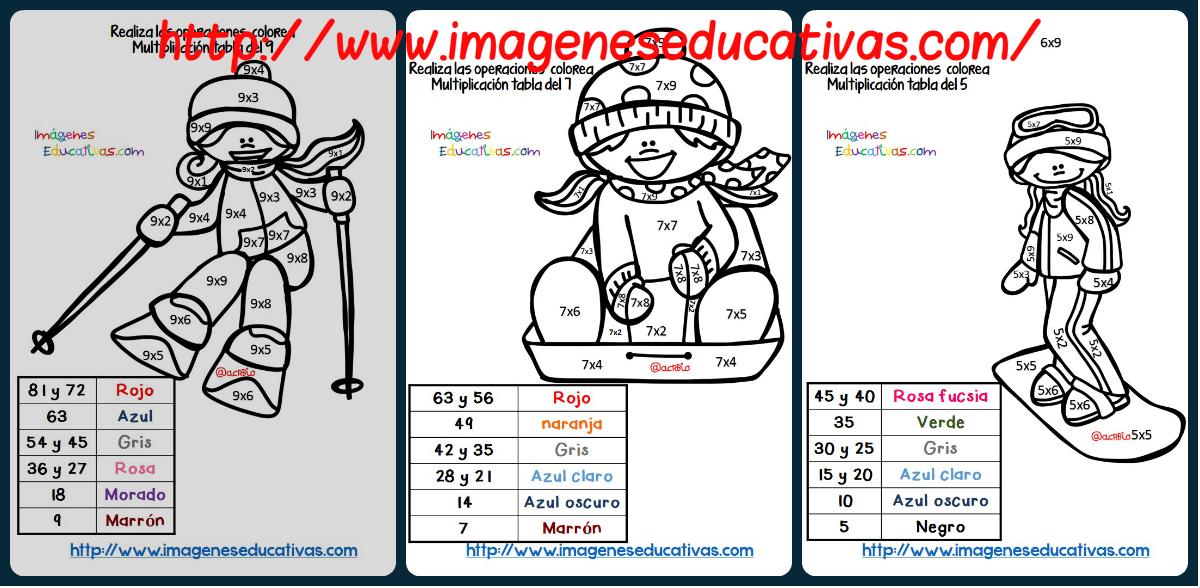 ... Respasamos las tablas de multiplicar Portada - Imagenes Educativas