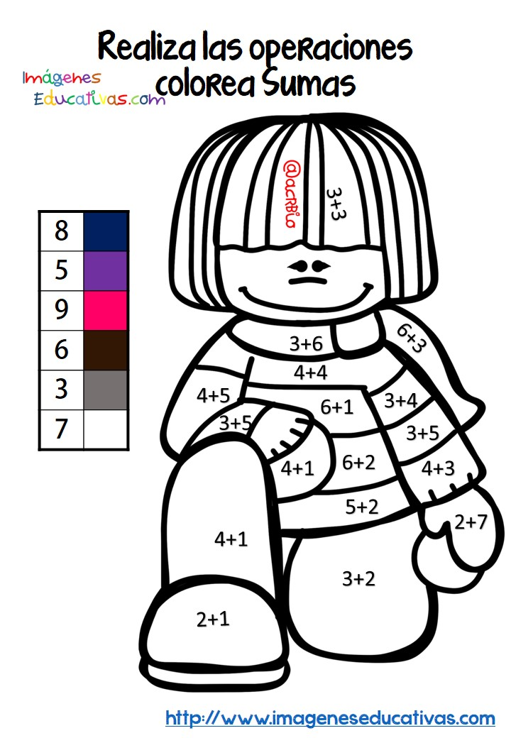 TE CUENTO UN CUENTO: Dibujos para colorear con sumas y restas para ...