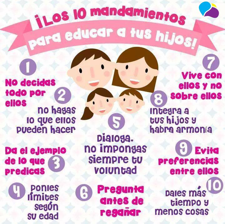 Mandamientos Del Matrimonio Catolico : Los diez mandamientos para educar a tus hij s imagenes