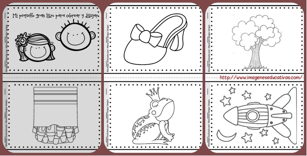 Dibujos Para Colorear De Libro Y Libreta: Resultado De Imagen De Dibujos Colorear Portadas Cuadernos