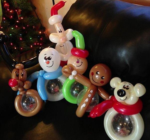 Navidad globos decoracion 11 imagenes educativas - Hacer munecos con globos ...