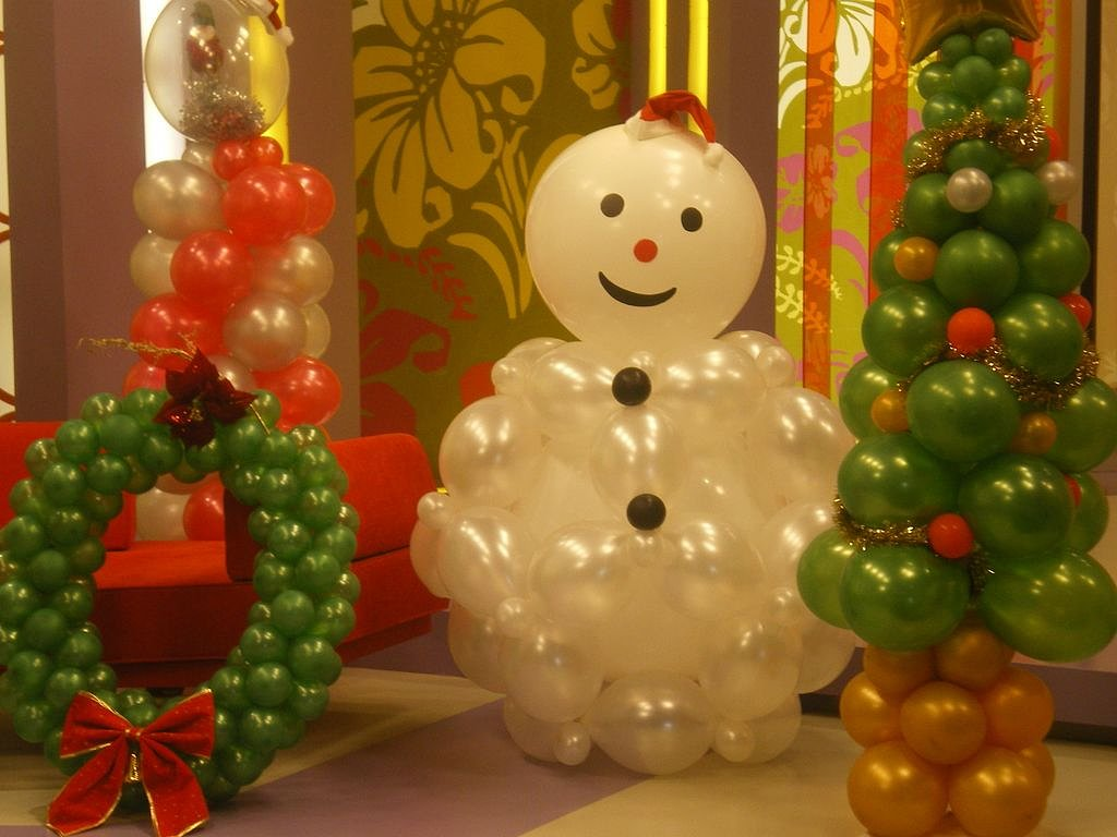Navidad globos decoracion 16 imagenes educativas - Adornar la casa en navidad ...