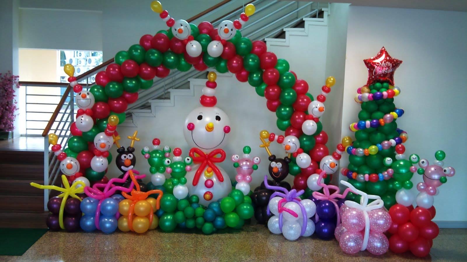 Navidad globos decoracion 9 imagenes educativas - Decoracion navidad para ninos ...