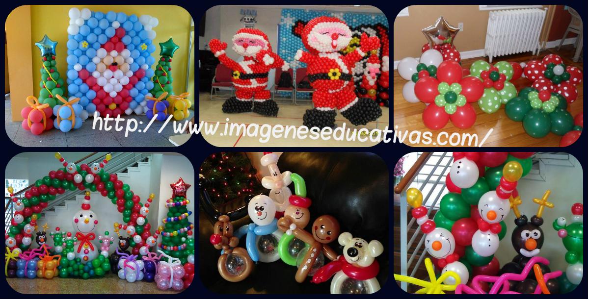 Navidad globos decoracion portada imagenes educativas - Decoracion navidad para ninos ...