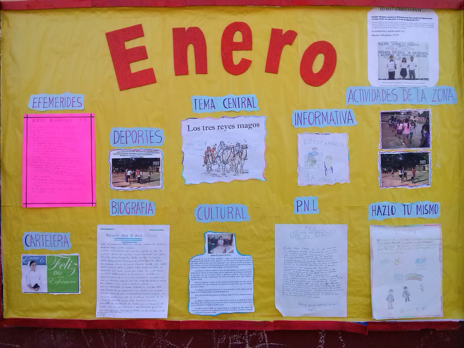 Periodico mura enero 1 imagenes educativas for Estructura de un periodico mural escolar
