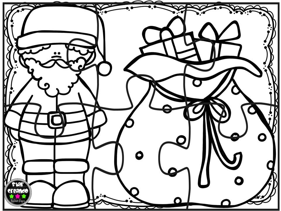Puzzles navidad para colorear 2 imagenes educativas for Actividades de navidad para colorear