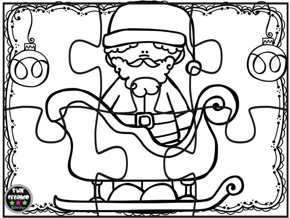 Puzzles navidad para colorear 3 imagenes educativas for Actividades de navidad para colorear