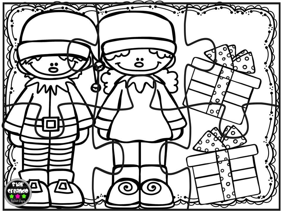Puzzles navidad para colorear 4 imagenes educativas for Actividades de navidad para colorear
