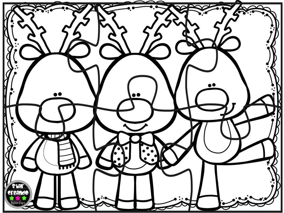 Hermosa Página Para Colorear De Navidad Ornamento - Dibujos Para ...