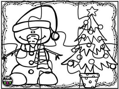 Puzzles navidad para colorear (9)