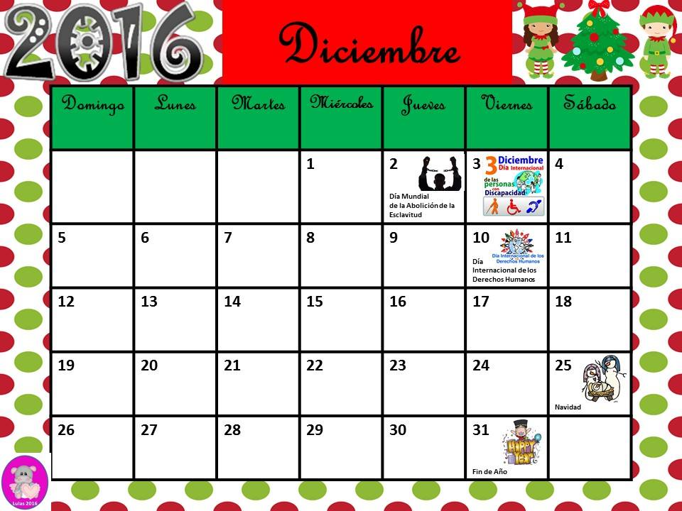Calendario 2016 con efemérides incluidas. Listo para descargar e ...