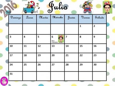 Calendario 2016 con efem rides incluidas listo para for Calendario junio 2016 para imprimir