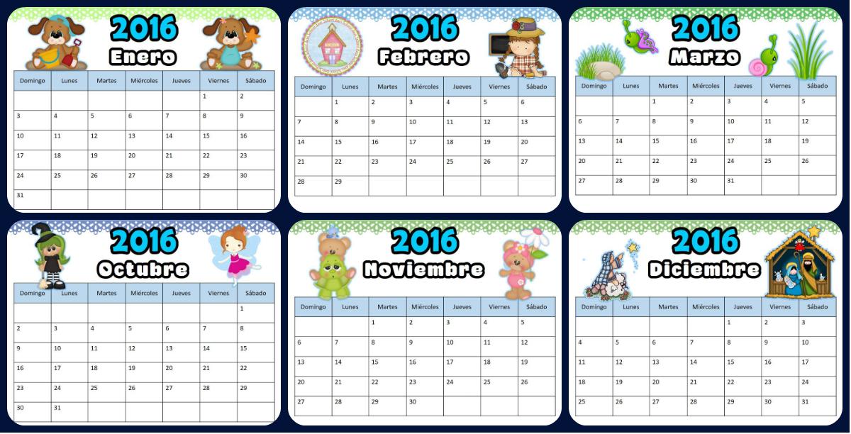 Precioso Calendario 2016, con imágenes dulces e infantiles - Imagenes