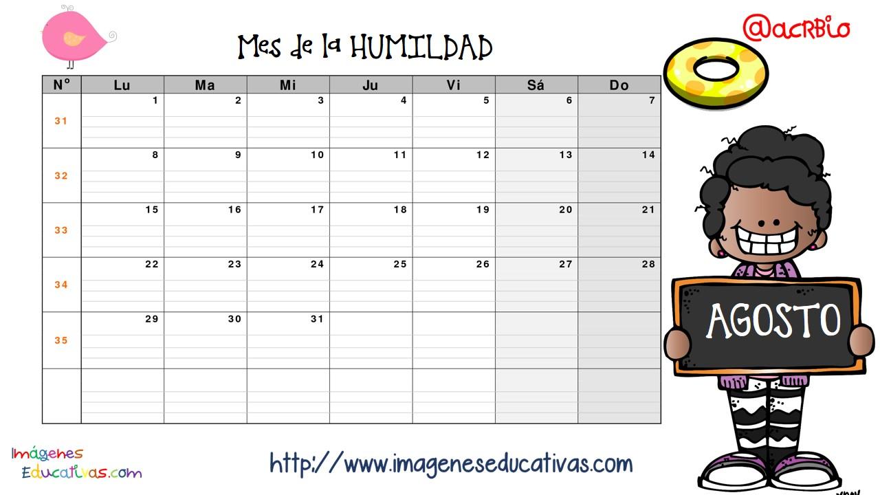 Calendario valores y planificador 2016 imagenes educativas 9 imagenes educativas - Mes noviembre 2017 ...