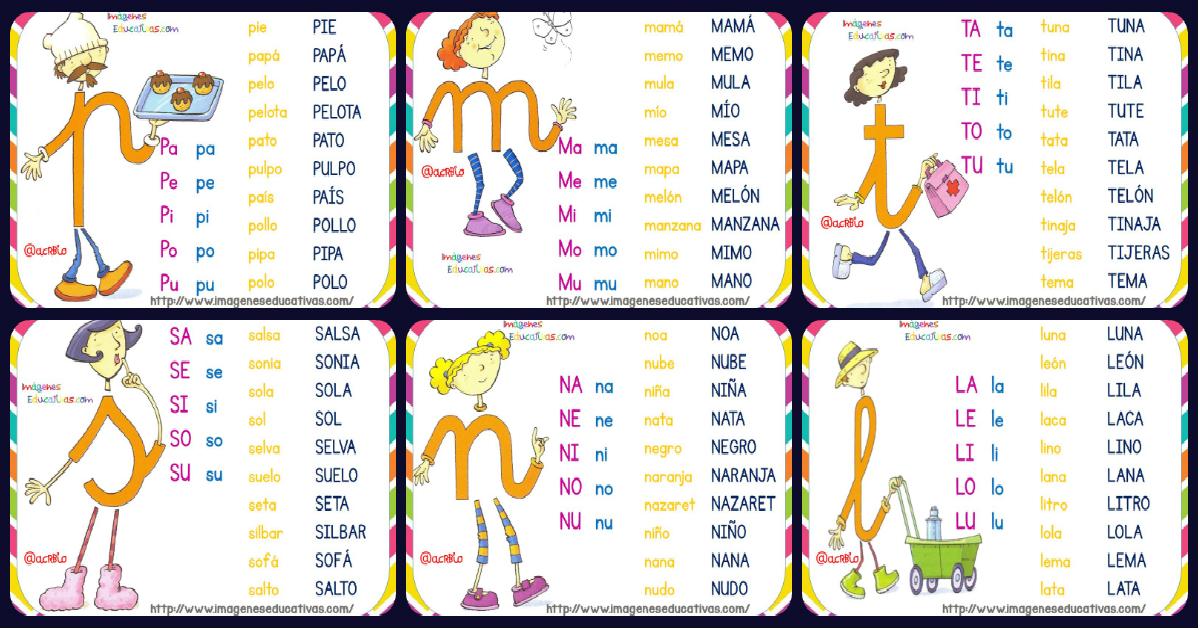 Fichas De Lectura Letrilandia Imagenes Educativas
