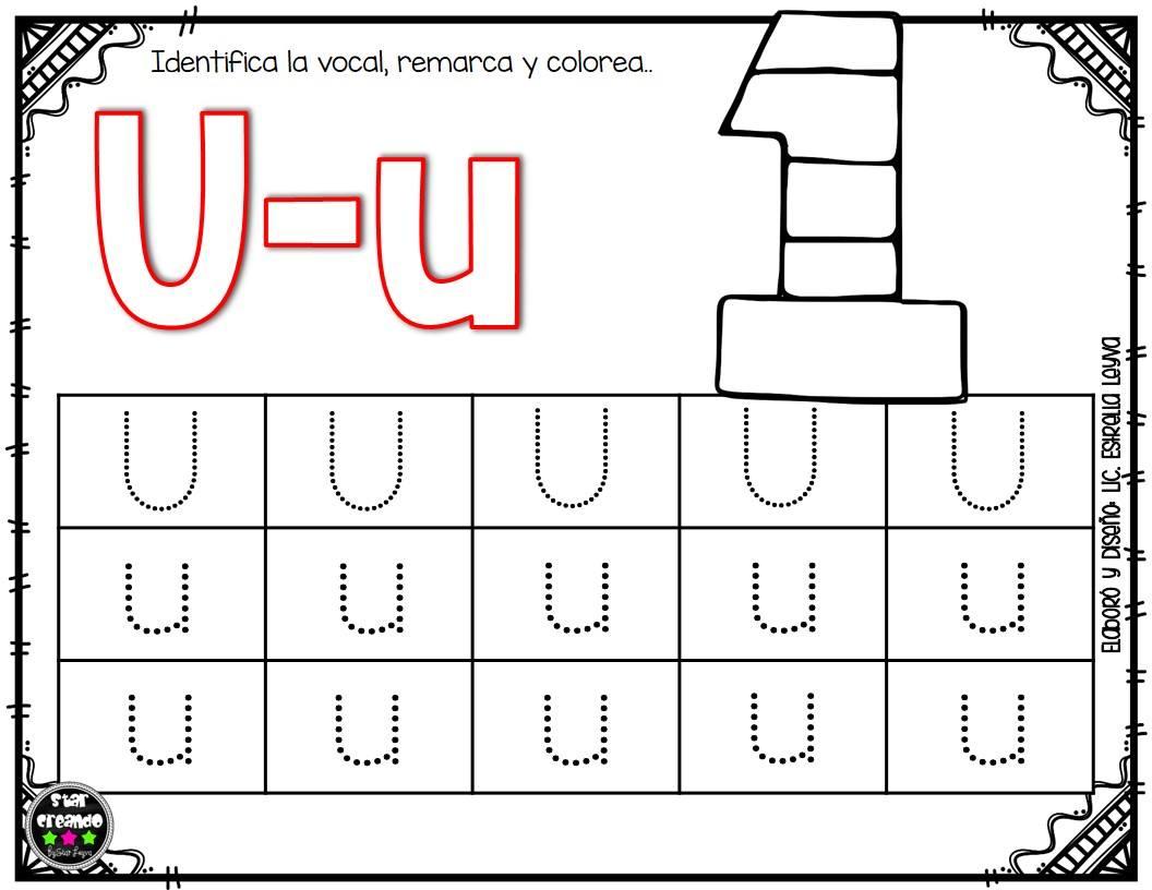 Fichas vocales (10) - Imagenes Educativas
