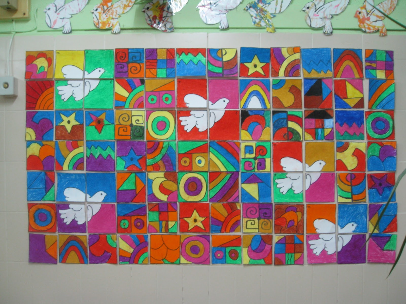 Murales d a de la paz 12 imagenes educativas for Jardines murales