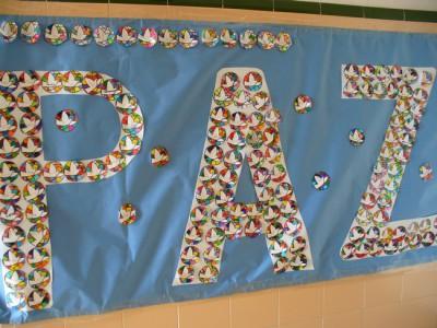 Murales para 30 de enero d a escolar de la paz y la no for Murales infantiles para preescolar