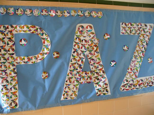 Murales d a de la paz 1 imagenes educativas - Murales pintados en la pared ...