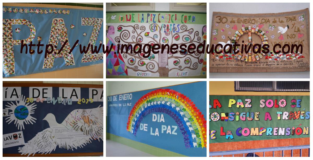 Murales para 30 de Enero Da Escolar de la Paz y la No Violencia